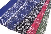 Šátek bavlněný 70x70cm kašmírový vzor 8beeb36467