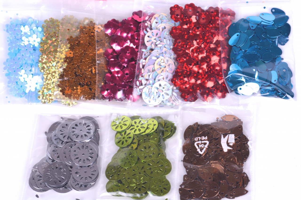 Flitry sypané 738 balení 3g mix druhů