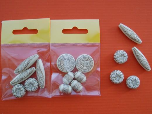 Korálky ozdobné 7743 vel.15-35mm balení 10g
