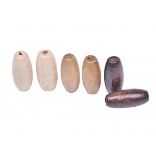 Korálky dřevěné 35 vel.15mm balení 5g