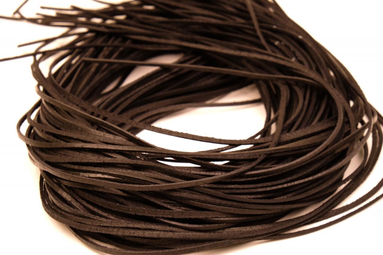 Řemínek z kůže 90cm černá
