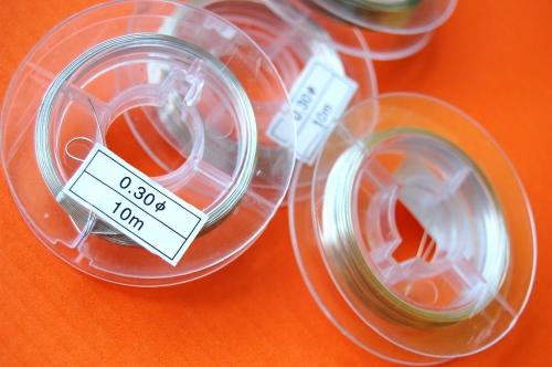 Bižuterní drátek 0,30mm návin 10m nikl