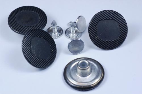 Knoflík Jeans 0844 černý kov vel. 32 - 20,3mm