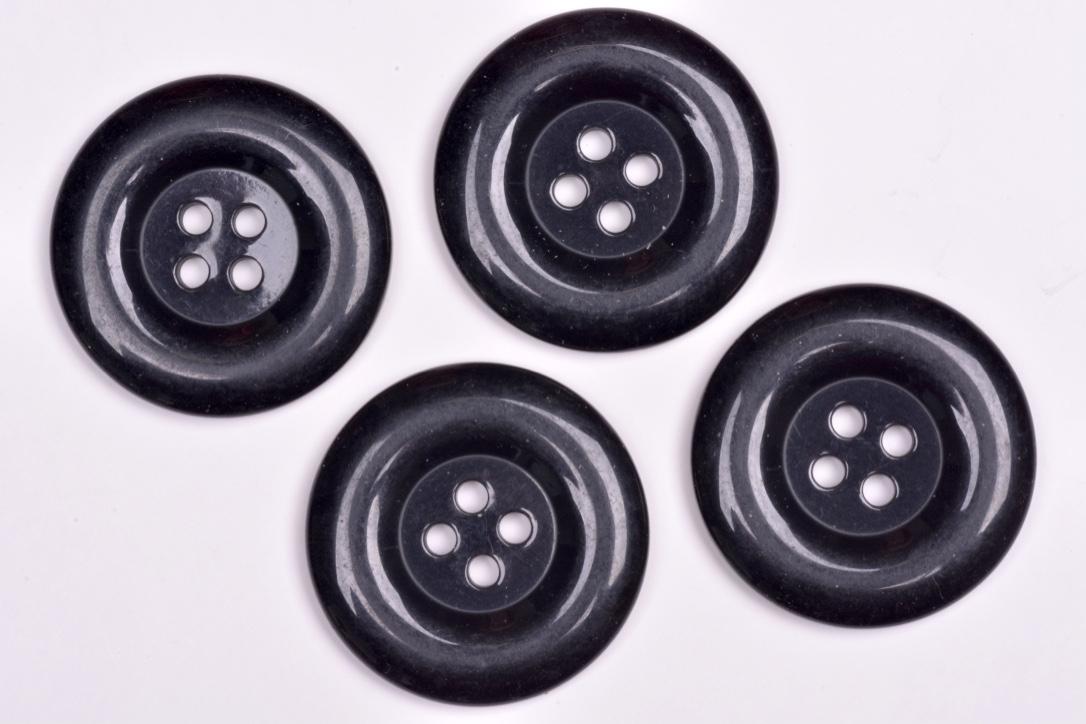 Knoflík kabátový 1009 vel.44 - 27,9mm černý