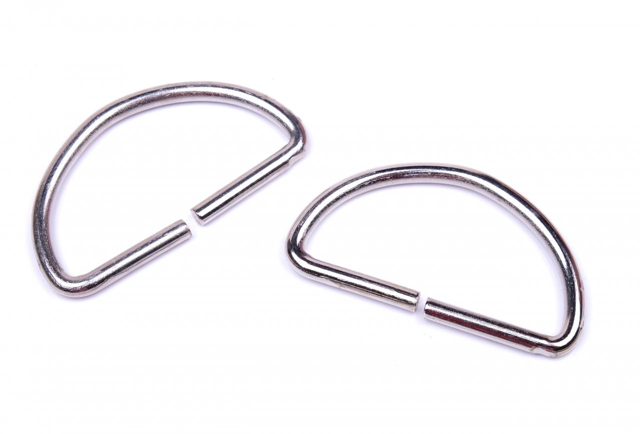 Polokroužek kovový vnitřní průvlek 50mm nikl