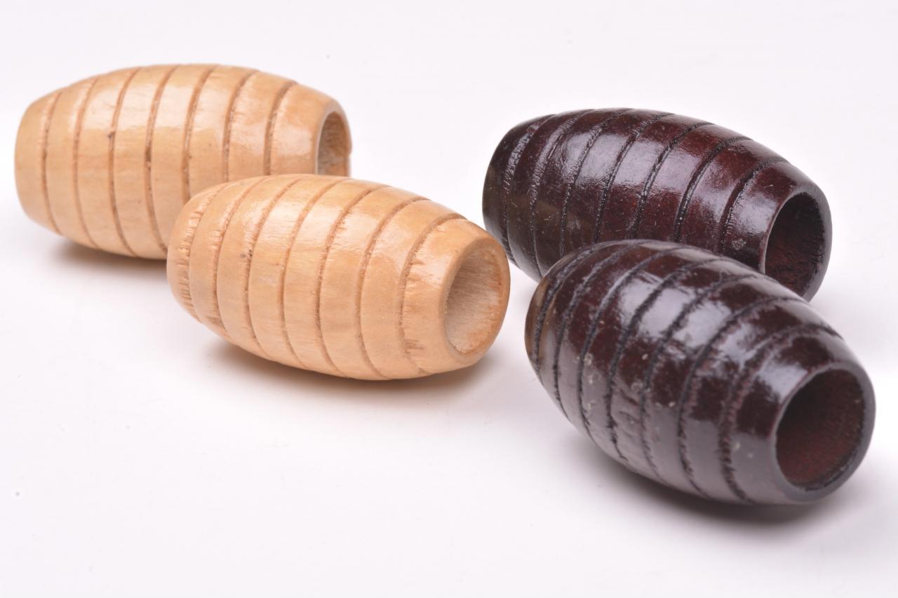 Korálky dřevěné vel. 33x20mm