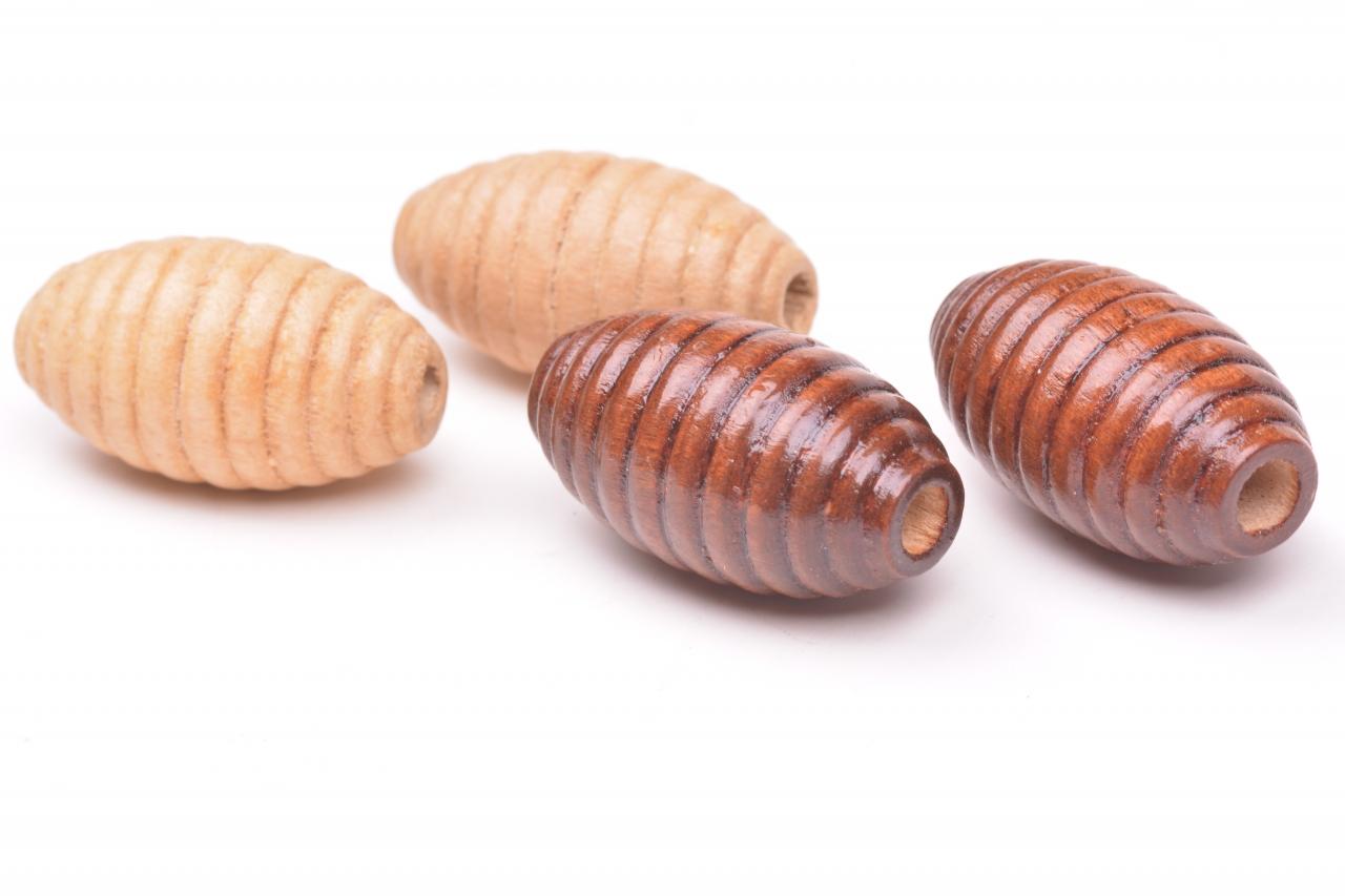 Korálky dřevěné vel. 25x14mm