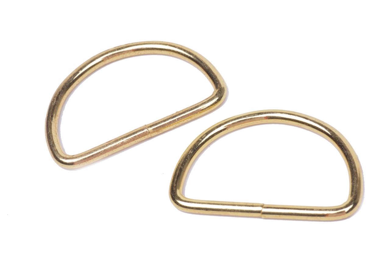 Polokroužek kovový vnitřní průvlek 30mm zlatý