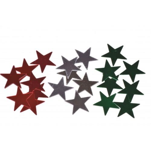 Glitry sypané hvězda vel. 15mm balení 2g