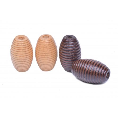 Korálky dřevěné vel. 30x19mm