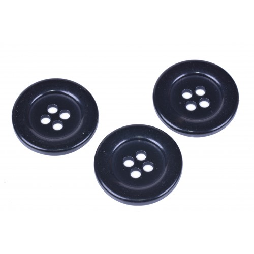 Knoflík kabátový 6514 vel. 54 - 34,3mm černý