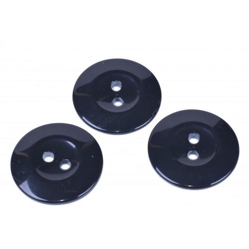 Knoflík kabátový 6511 vel. 54 - 34,3mm černý
