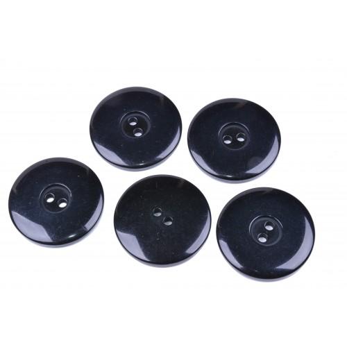 Knoflík kabátový 6515 vel. 54 - 34,3mm černý