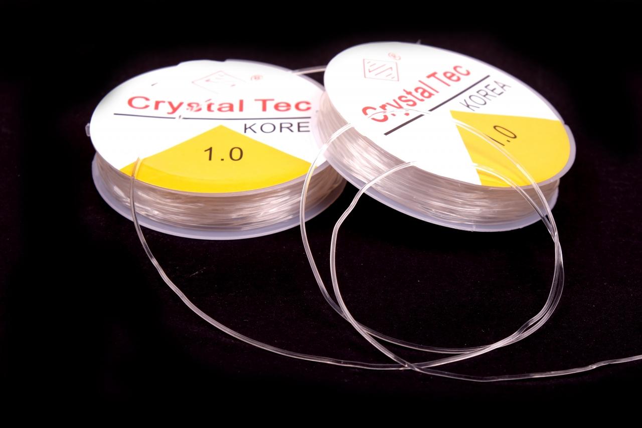 Silikonová gumička čirá 1mm návin cca 6m