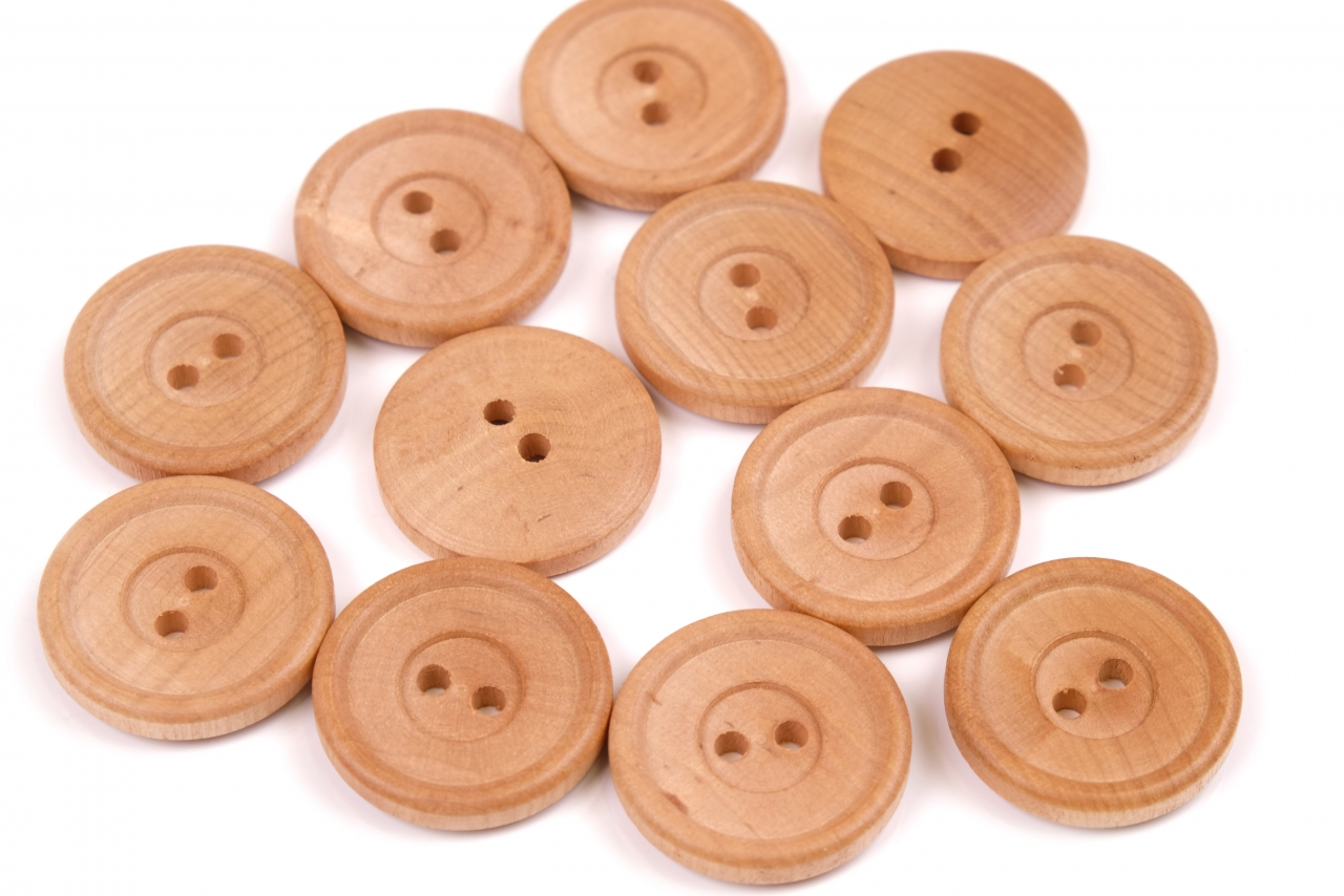 Knoflík dřevěný 12025 vel.44-27,9mm