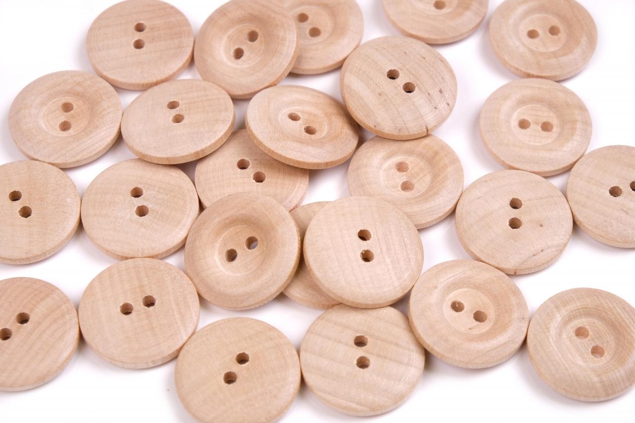 Knoflík dřevěný 14025 vel.40 - 25,4mm