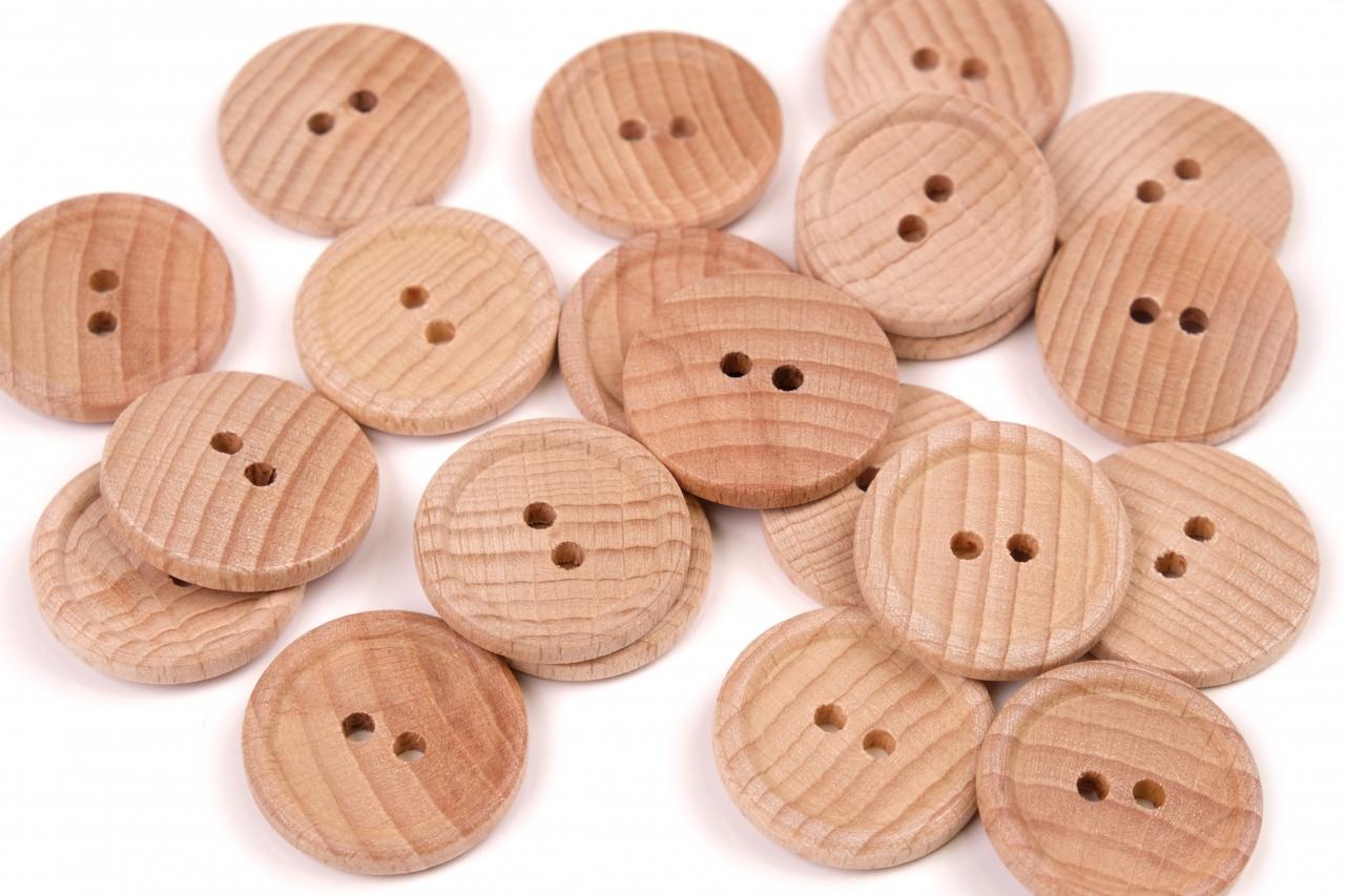 Knoflík dřevěný 1040 vel.40 - 25,4mm