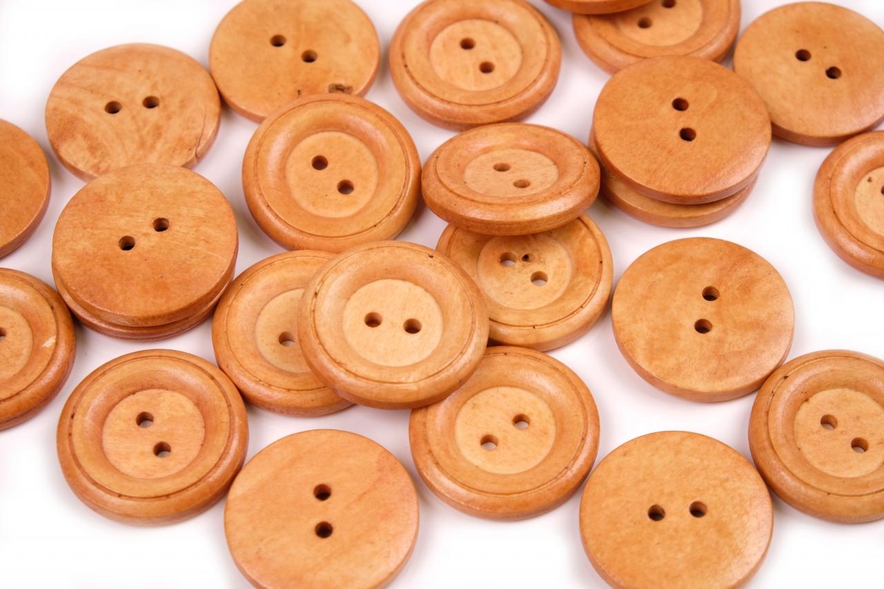 Knoflík dřevěný 1496 vel.40 - 25,4mm