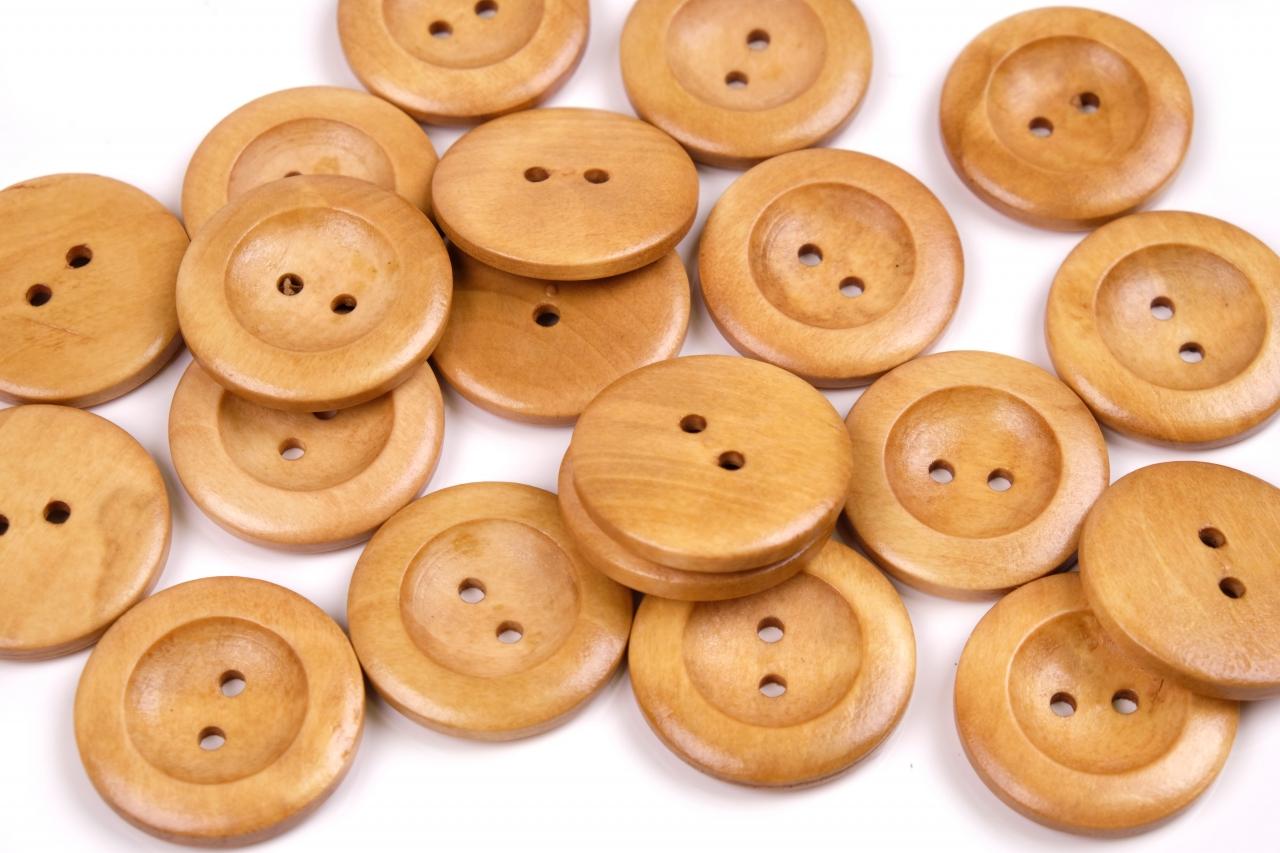 Knoflík dřevěný 1497 vel.48 - 30,5mm