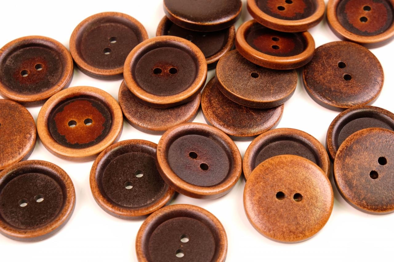 Knoflík dřevěný 1498 vel.48 - 30,5mm