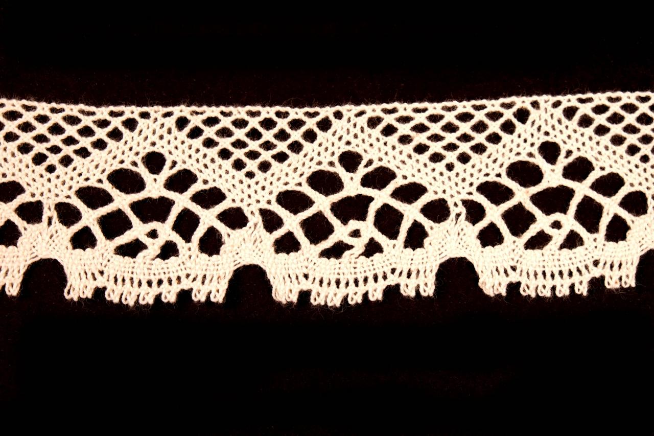 Krajka bavlněná 75022 paličkovaná šíře 45mm bílá