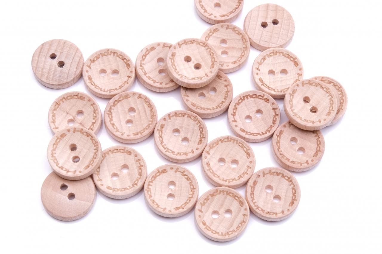 Knoflík dřevěný handmade 2524 vel.24 - 15,2mm