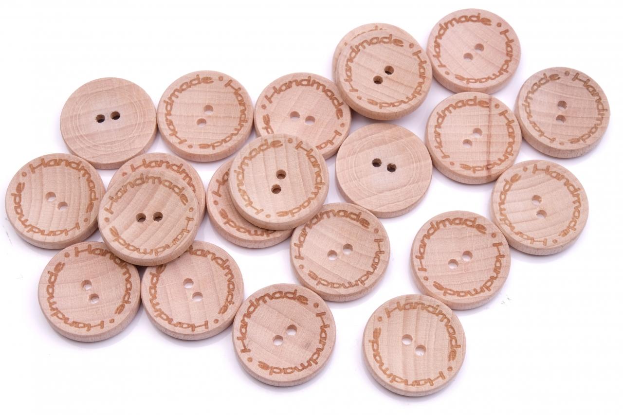Knoflík dřevěný handmade 2536 vel.36 - 22,9mm
