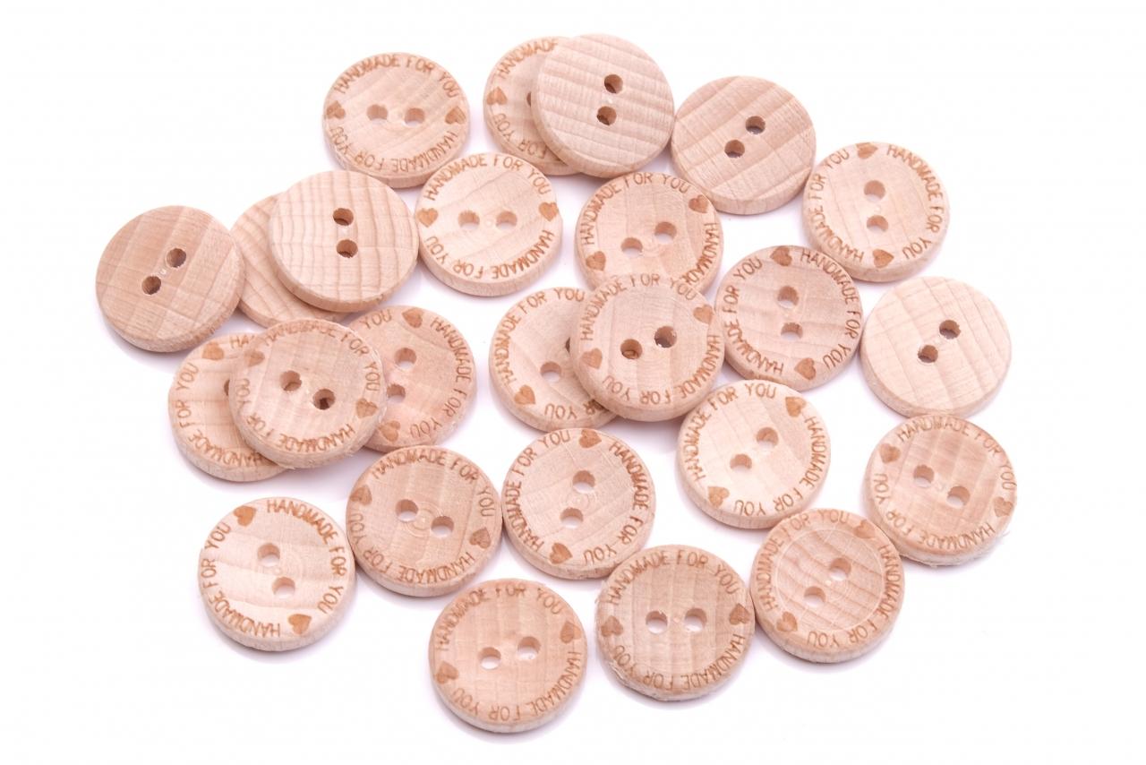 Knoflík dřevěný handmade 9001 for you vel.24 - 15,2mm