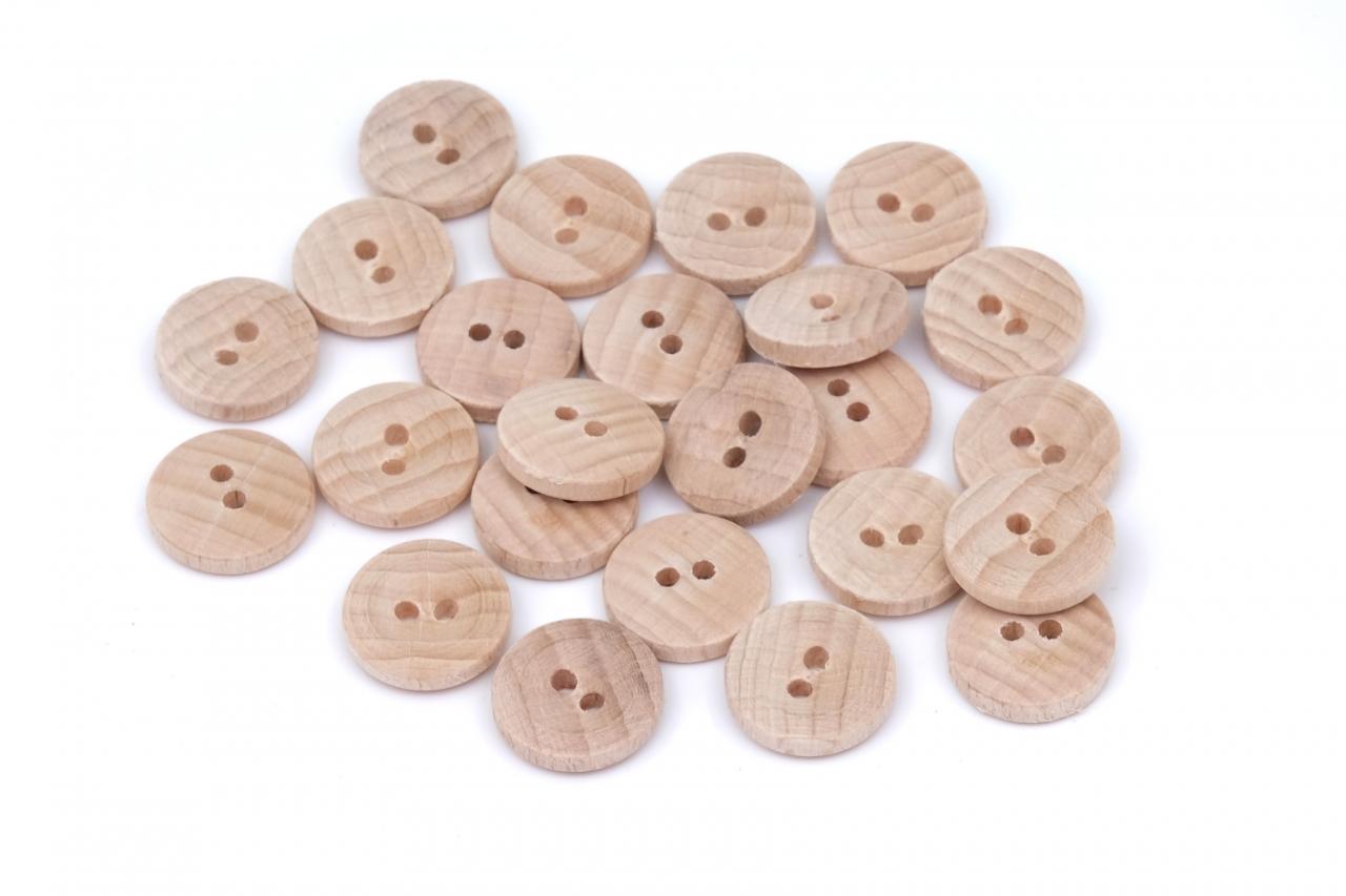 Knoflík dřevěný 1424 vel.24 - 15,2mm