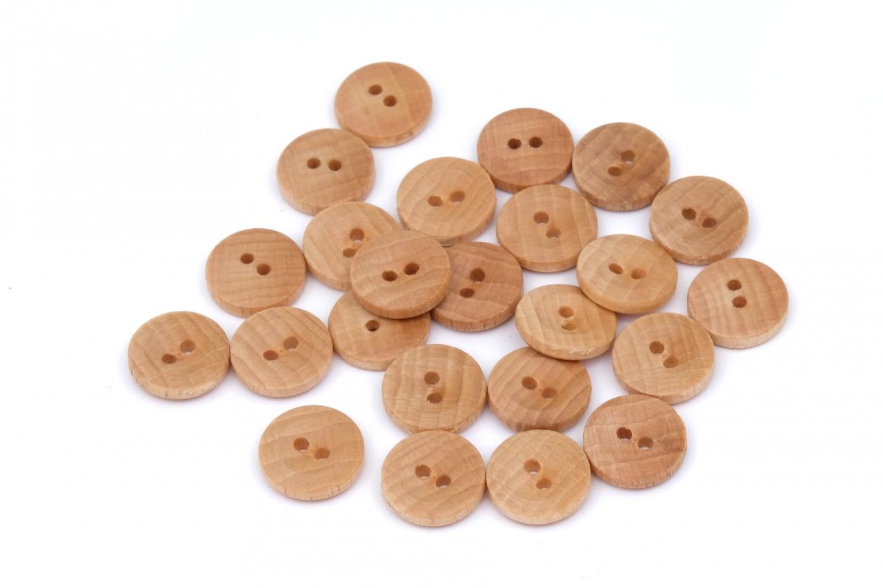 Knoflík dřevěný 2424 vel.24 - 15,2mm