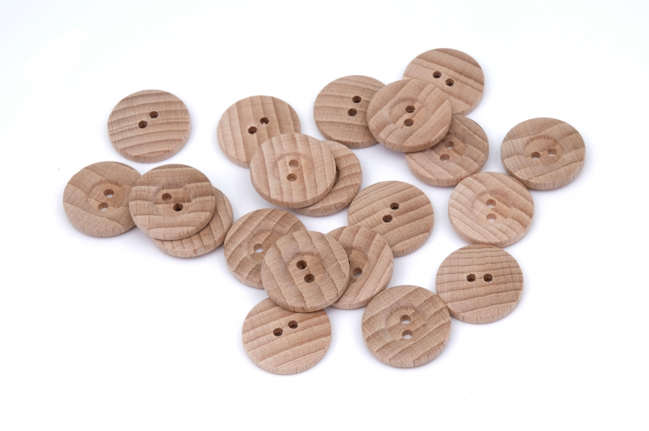 Knoflík dřevěný 1132 vel.32 - 20,3mm
