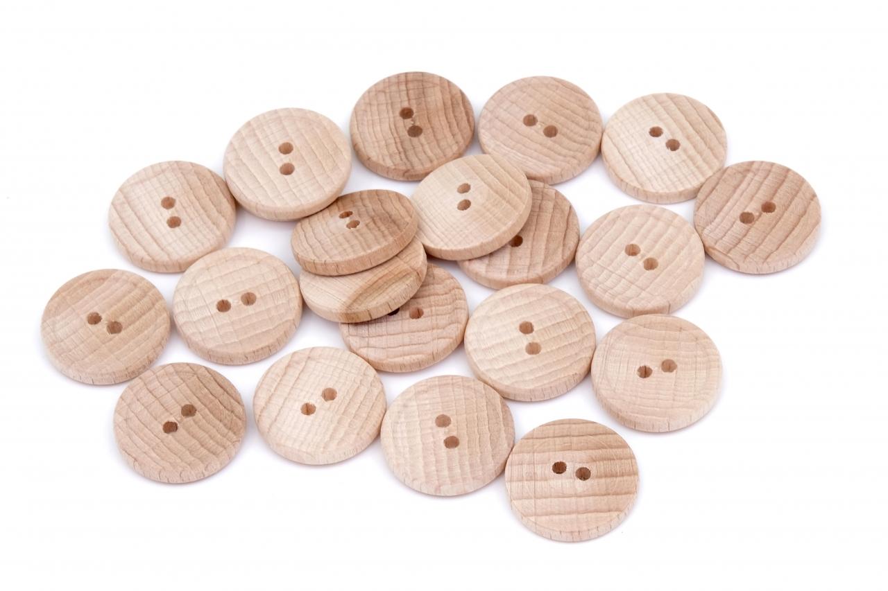 Knoflík dřevěný 1036 vel.32 - 22,9mm