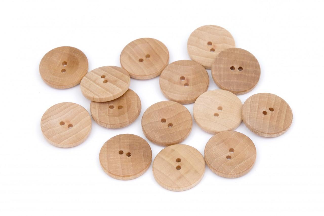 Knoflík dřevěný 2440 vel.40 - 25,4mm