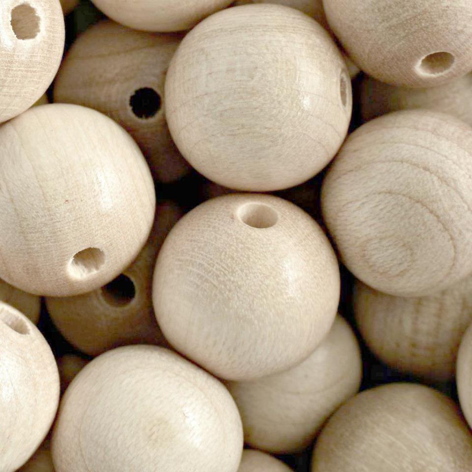 Korálky dřevěné přírodní vel. 18mm