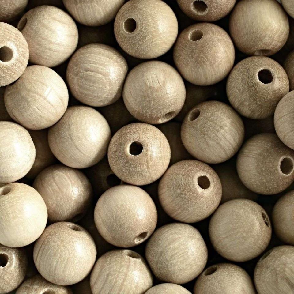 Korálky dřevěné přírodní vel. 12mm