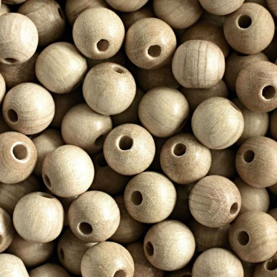 Korálky dřevěné přírodní vel. 10mm