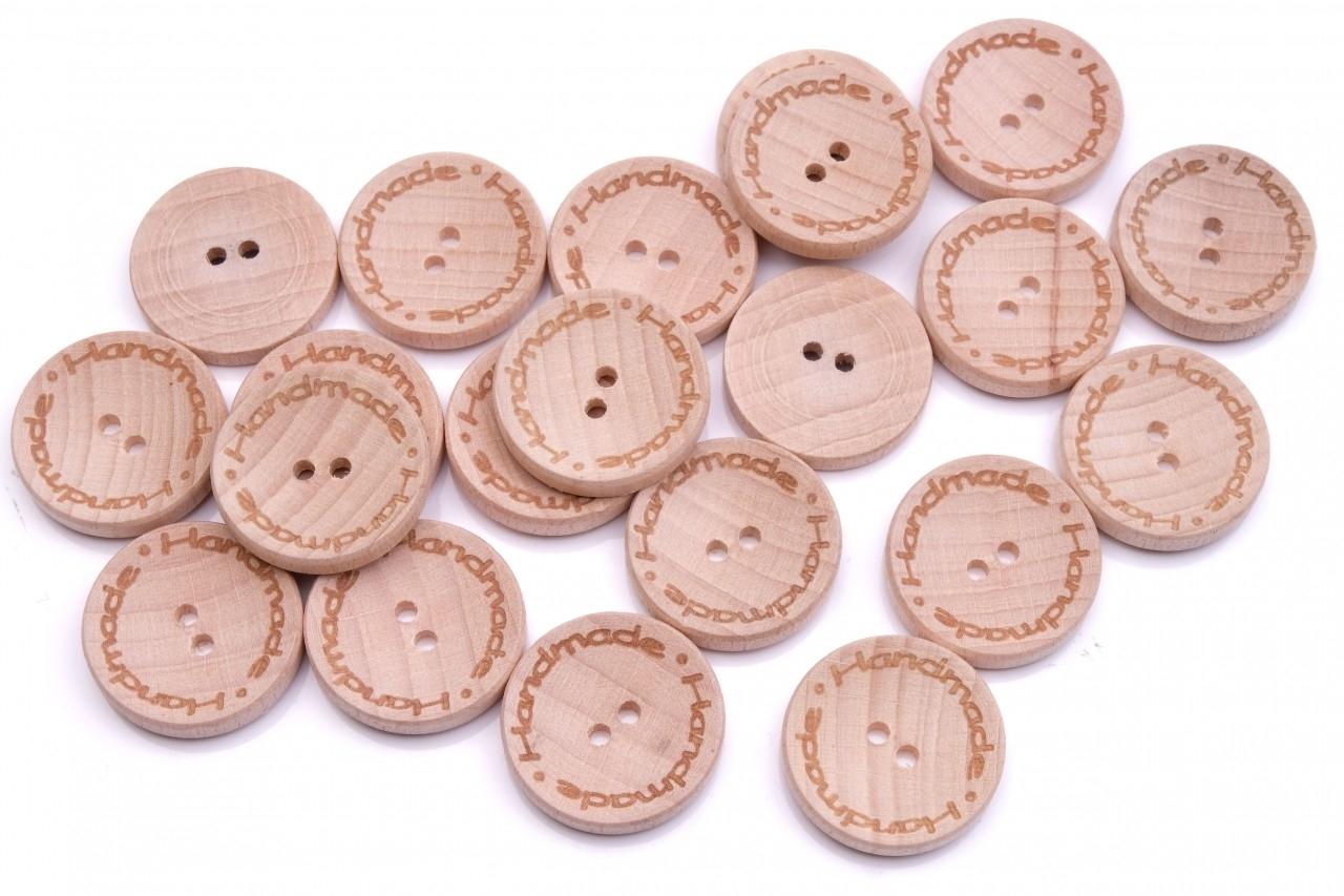 Knoflík dřevěný handmade 2540 vel.40 - 25,4mm