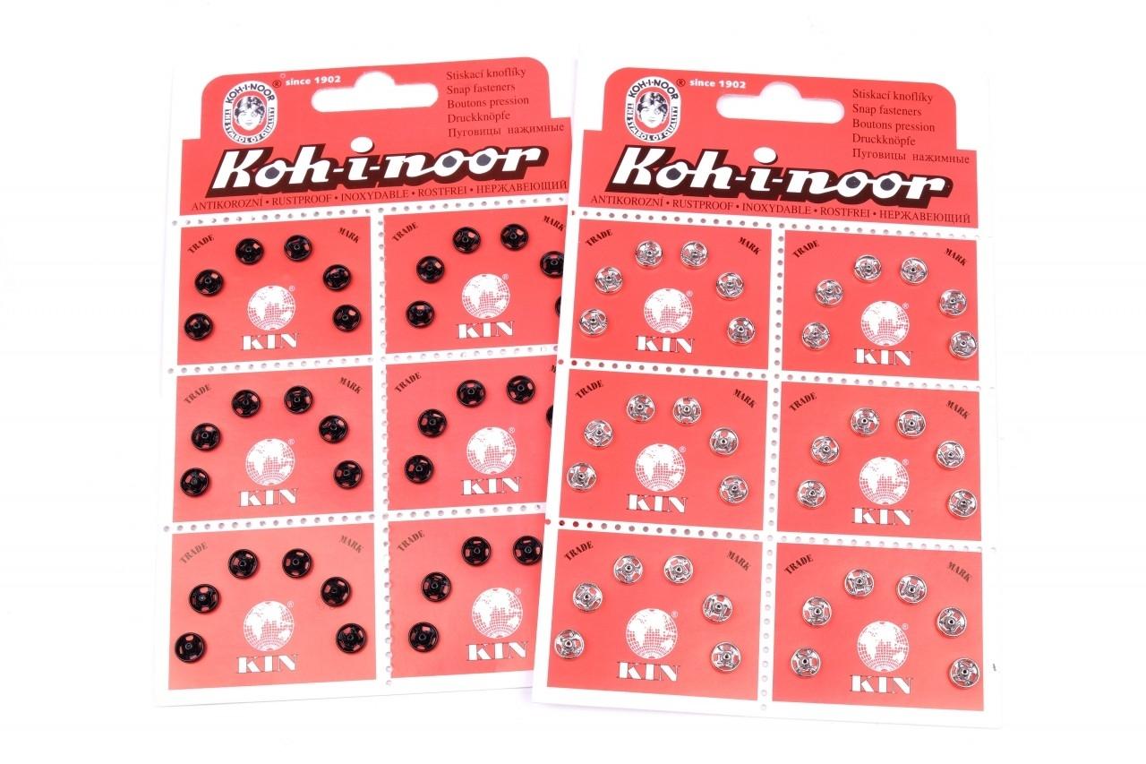 Stiskací knoflíky KIN vel.2/0 - 4mm karta 36ks