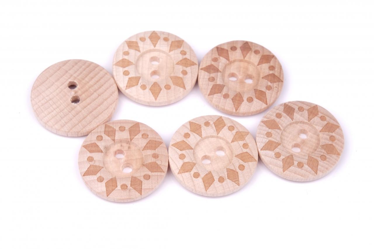 Knoflík dřevěný 56 vel.40 - 25,4mm